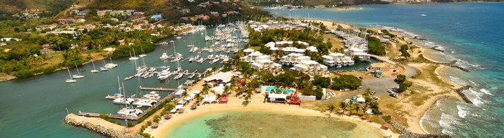 Aerial View of Nanny Cay. Photo by William Torrillo