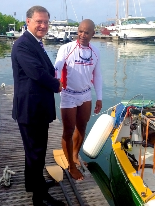 Victor and BVI Govenor. Photo by Claudia Colli