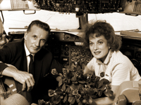 Maureen O'Hara with husband Charles Blair.