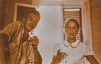 Robb & Rodie White, first inhabitants of Marina Cay.