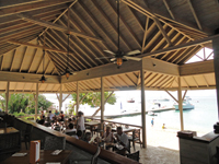 View inside the restaurant at Cooper Island