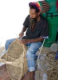 Basket-making by an artisan