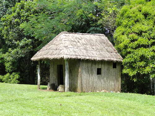 Taino thatch house at Caguana.