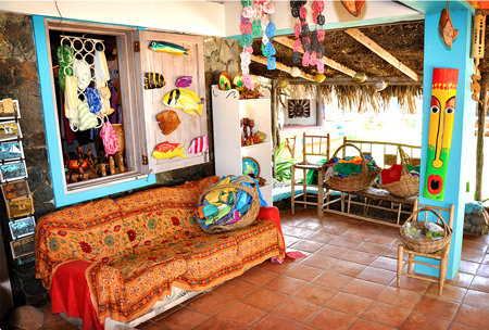 an Arts & Crafts shop at Trellis Bay