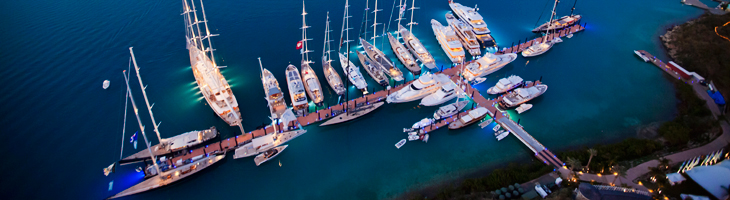 An Aerial View of the YCCS Marina in Virgin Gorda