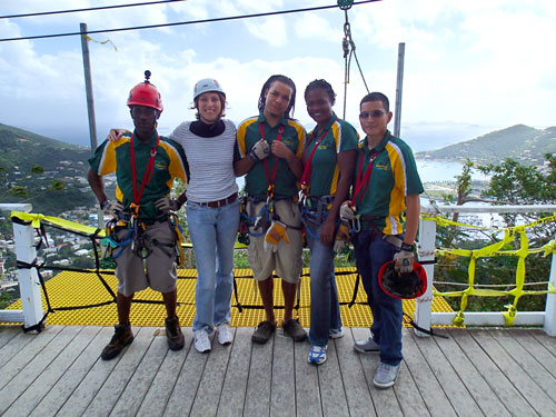 The crew of Virgin Canopy Tours