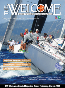 February-March-2017 Cover. The BVI Spring Regatta attracts upwards of 100 vessels annually.