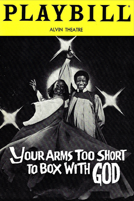 Playbill from Your Arms are too Short to Box with God
