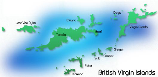BVI explore map of other islands