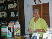Tour guide Dora Scatliffe at the gift shop