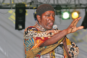 Bazz performing at the local Calypso competition