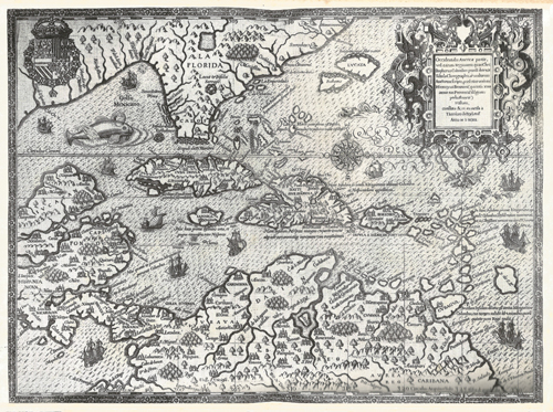 A 16th century Caribbean Map