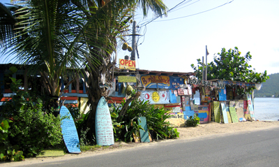 Bomba's Shack at Capoons Bay. Photo by Claudia Colli