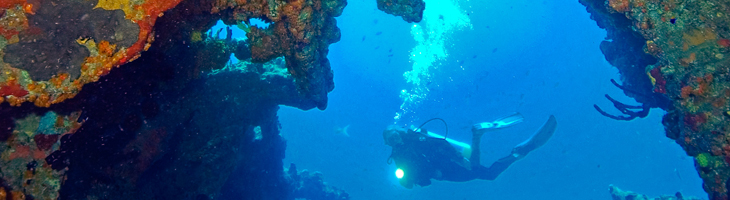 Inside the wreck of the RMS Rhone