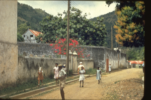 Walking past the prison in the 1950s